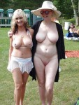 MILF and GrandMILF nude in public