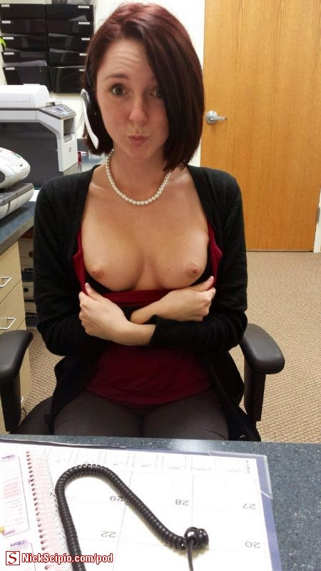 office-tits-flash